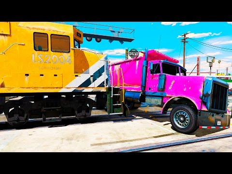 Fun Trains in Trouble with COLORS trailler TRUCK