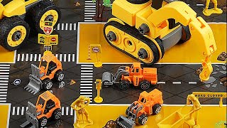 Children's toy large engineering vehicle detachable screw disassembly group assembling car