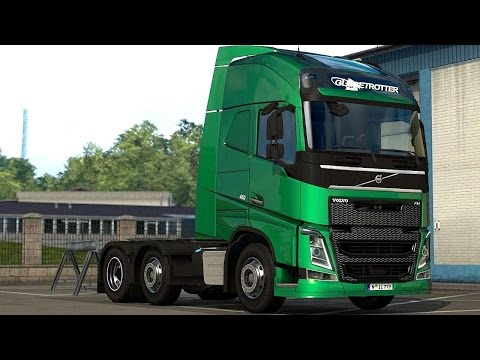 Euro Truck Simulator 2 Scandinavia DLC - The New Volvo FH Picking Up a Trailer from Malmö  