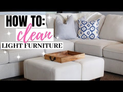 HOW TO CLEAN LIGHT FURNITURE // CLEAN WITH ME // EASY & QUICK DIY // DENAE LYNN