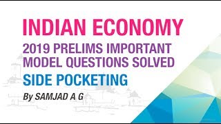SIDE POCKETING | 2019 PRELIMS IMPORTANT MODEL QUESTIONS SOLVED | INDIAN ECONOMY | NEO IAS