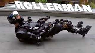 ROLLERMAN  Extreme Downhill Rollerblading Suit