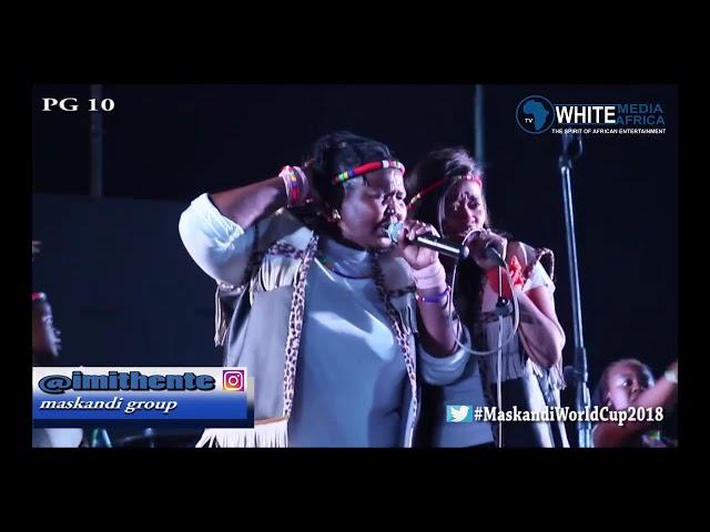 Imithente live on White Media Africa TV that was iMpucuzeko Maskandi 2018