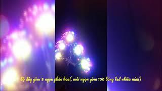 Đại Phát ĐDG_Dây đèn led trang trí hiệu ứng pháo hoa nhiều màu 500 led