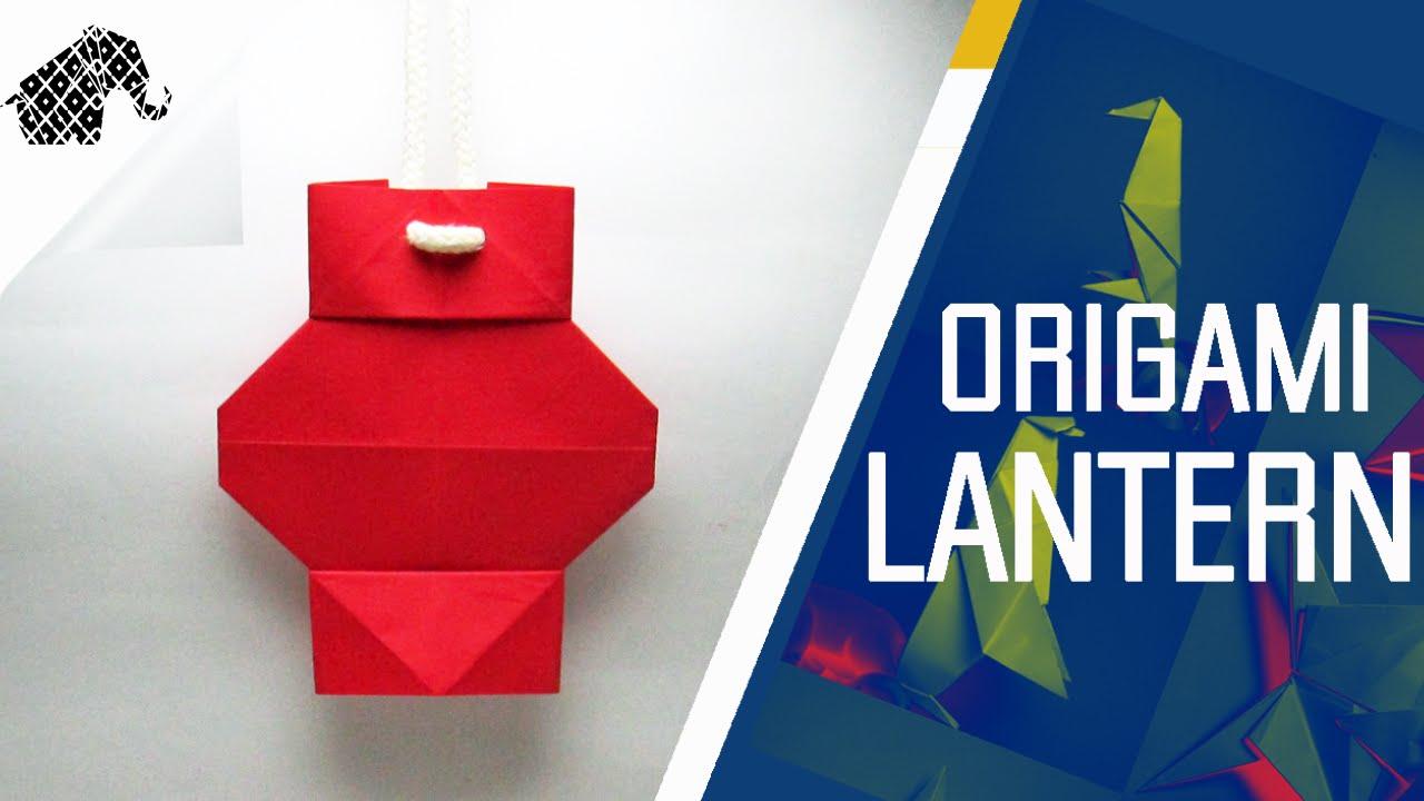 Origami How To Make An Origami Lantern Youtube