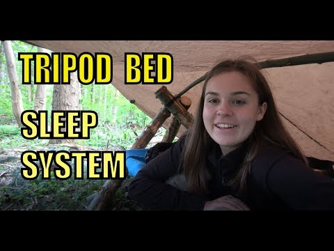 Raised Bed - Tripod Style and Sleep System Setup