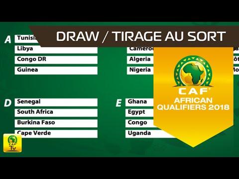 Tirage au sort Coupe du Monde de la FIFA 2018 - Qualifications Zone Afrique