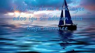 fuad cumar adoo kale with lyrics