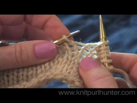 Knitting Stitches M1l M1r : Make One (M1, M1L, M1R) - YouTube