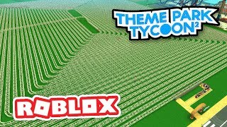BUILDING THE LONGEST ROLLER COASTER EVER in THEME PARK TYCOON