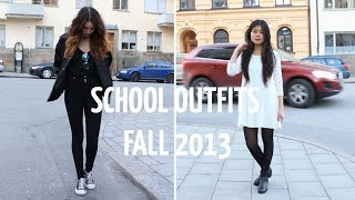 School Outfits Lookbook Fall 2013