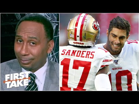 Emmanuel Sanders defends Jimmy G to Stephen A., talks signing with the Saints | First Take