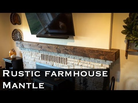 Build your own faux farmhouse mantel! / DIY fireplace mantle