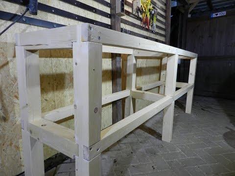 Werkbankbau Teil 4 - Das Untergestell mit Verblattung ist fertig