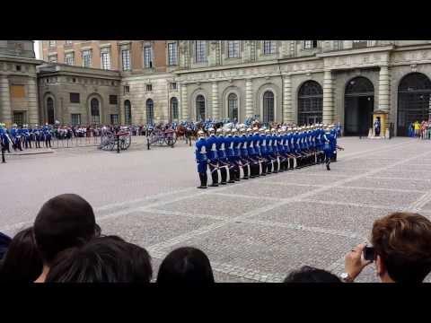 Change of the royal guard at Stockholm Royal Palace
