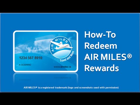 How to Redeem AIR MILES YouTube