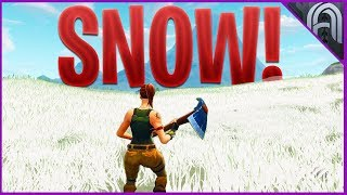 Carte Fortnite obtient SNOW??? Nouvelles informations de mise à jour de vacances et fuites!