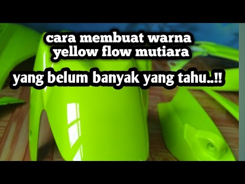 Campur Cat Kuning Stabilo Mutiara Hijau Warna Stabilo Nya Jadi Mantap Youtube