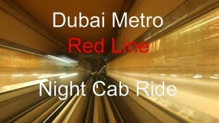 dubai metro night cab ride on the red line metro station impressions