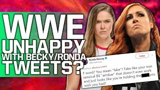 WWE Unhappy With Becky Lynch/Ronda Rousey Tweets? | Roman Reigns Advertised For Fastlane 2019 Match
