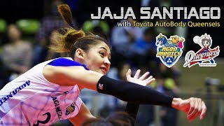 #3 Jaja Santiago with Toyota Auto Body Queenseis・Japanese Volleyball League 2018-2019
