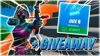 MANAGES WEEK 6 CHALLENGES! (+ GIVEAWAY)-English Fortnite