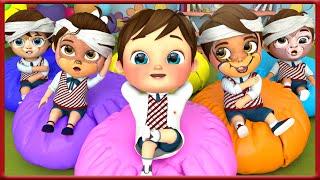Five Little Monkeys | Banana Cartoon Nursery Rhymes & Kids Songs