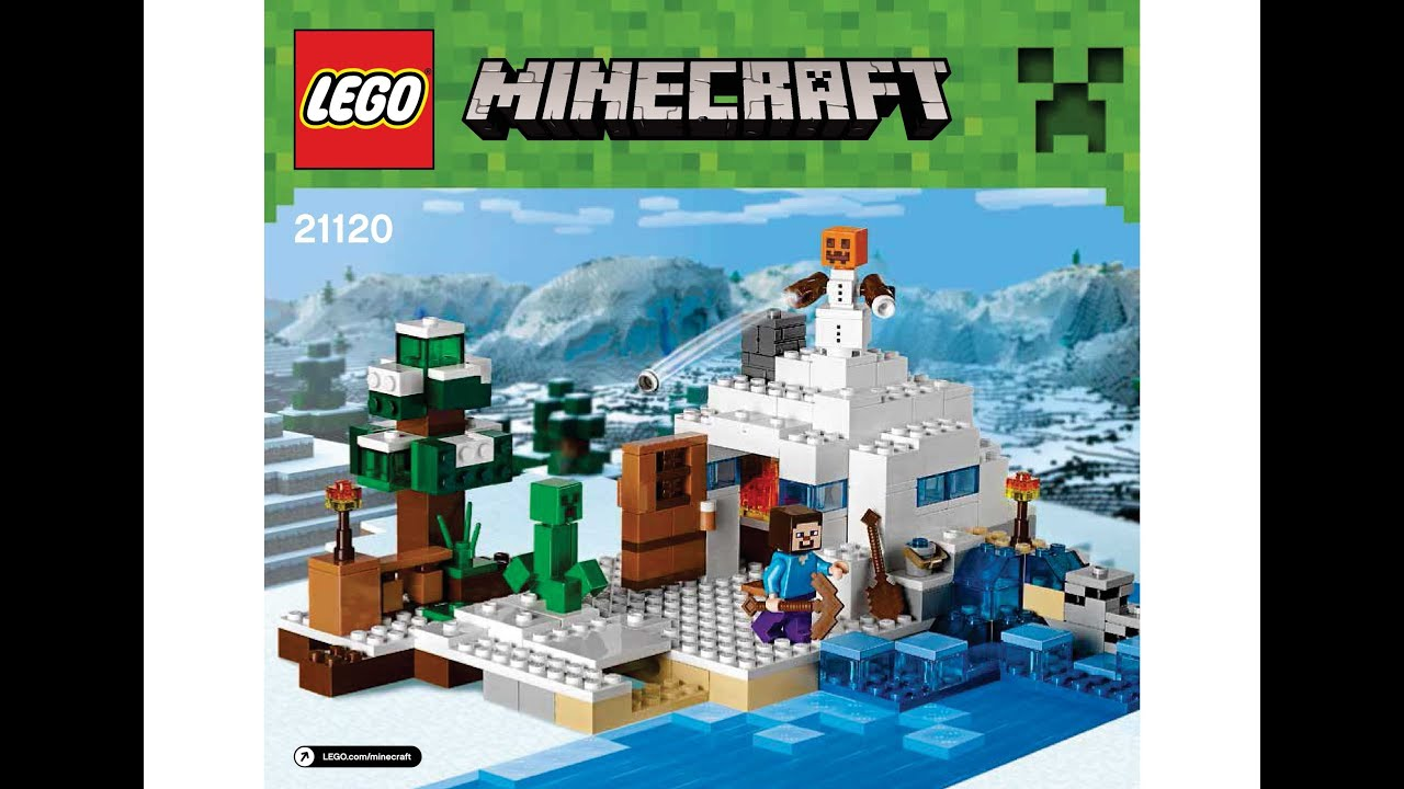 Lego 21120 The Snow Hideout Instructions Lego Minecraft