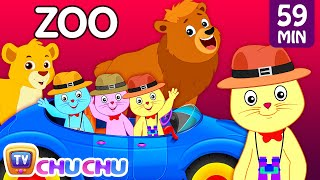 Repeat youtube video Three Little Kittens Went To The Zoo – Wild Animals Sounds Nursery Rhymes by Cutians™ | ChuChu TV