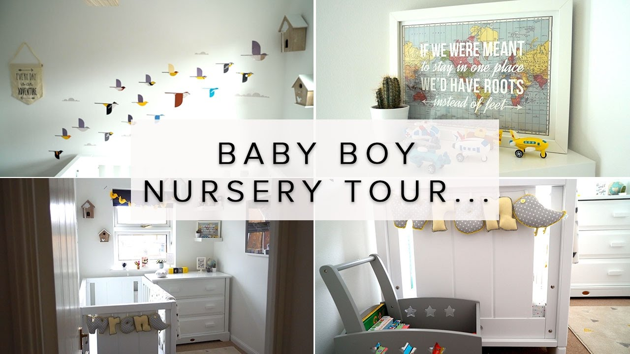 Baby Boy Nursery Room Tour Travel Bird Theme