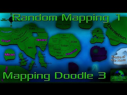 Mapping Doodle 3: Random Mapping 1: West Heroes vs East Villains?
