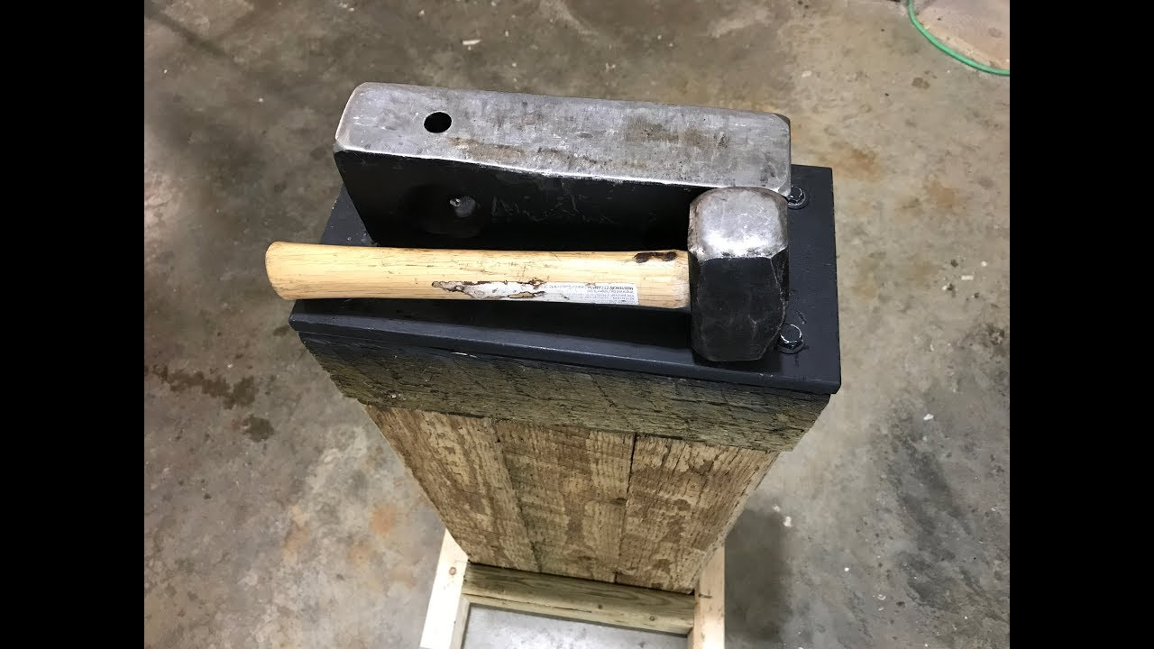 A simple cheap anvil for knives and blacksmithing