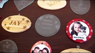 Easy made personalized Christmas ornament