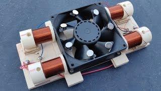 Computer Fan Free Energy Generator Using Neodymium Magnet Activity