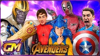 Avengers Kids Hide and Seek - Can They Escape Thanos? With Deadpool & Sonic!