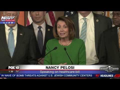 WATCH: Democratic Leader Nancy Pelosi Speaks After Healthcare Bill Pulled By President Trump (FNN)