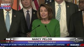 WATCH: Democratic Leader Nancy Pelosi Speaks After Healthcare Bill Pulled By President Trump (FNN)