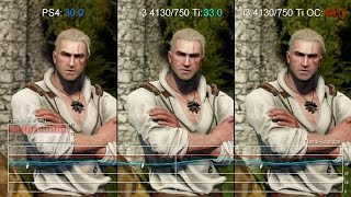 The Witcher 3: PS4 vs Core i3 4130/GTX 750 Ti Frame-Rate Test