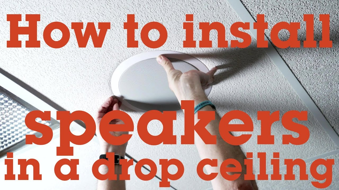 how to install a speaker in a drop ceiling panel crutchfield