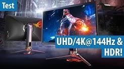 Asus ROG PG27UQ: Erster Gaming-Monitor mit UHD/4K@144Hz, HDR und Logo-Projektion im Test / Review