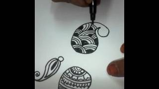 Different types of kairi in mehendi designs