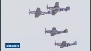 Raw Video: World War II Planes Flyover Washington