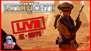 Star Wars Battlefront 2 PC and PS4 Gameplay | 4K Live Stream (4K 60FPS)