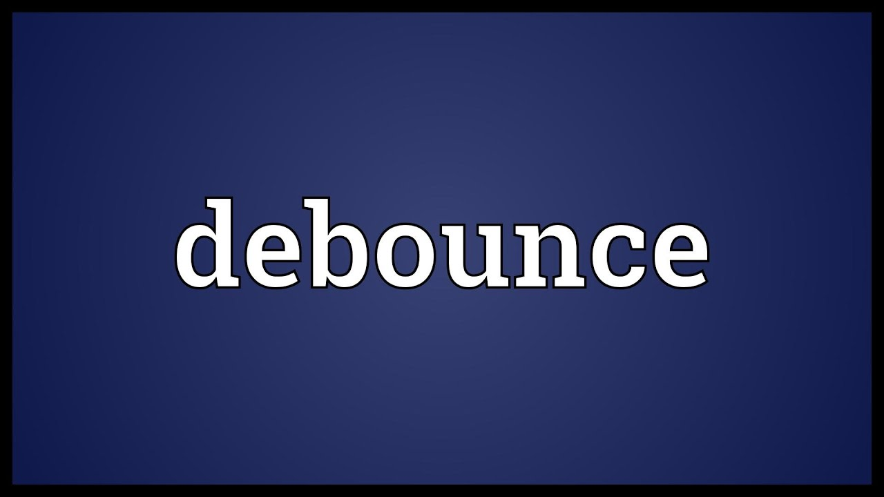 Simple Switch Debouncer Debounce Meaning Youtube
