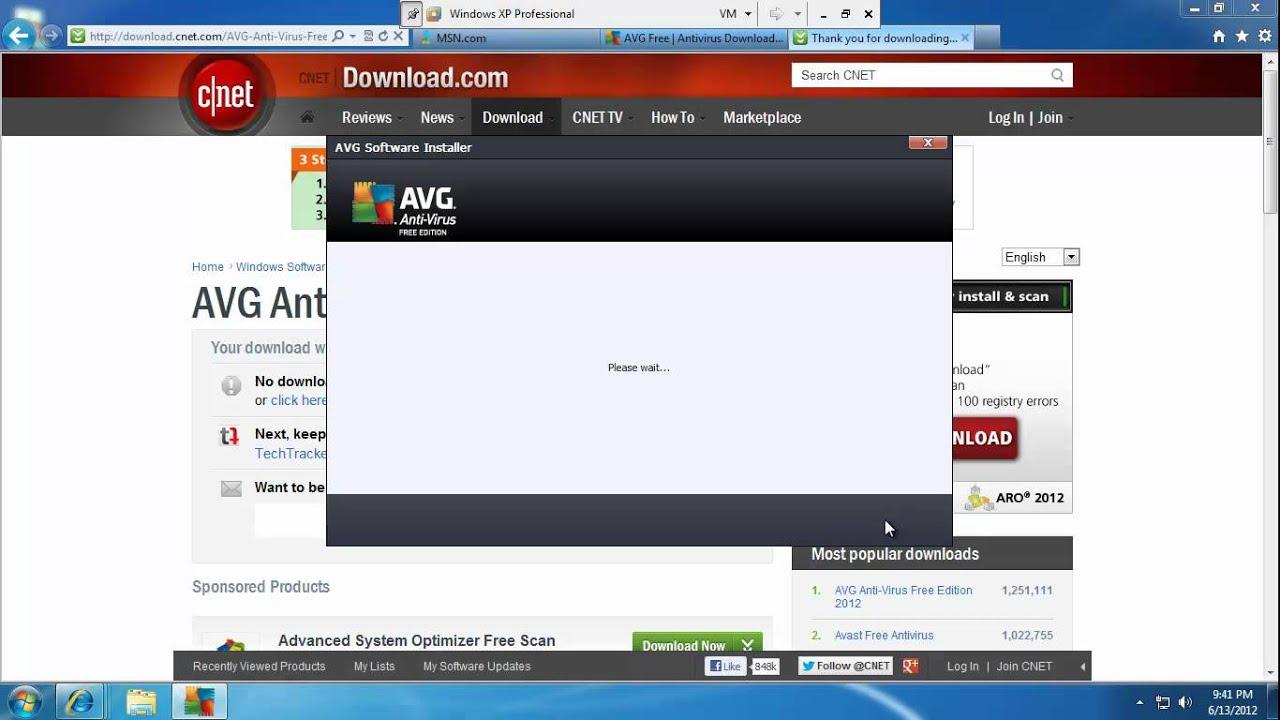 Avg anti-virus free edition 2012 review youtube.