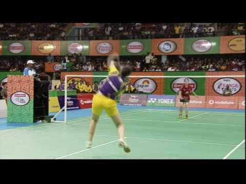 Carolina Marin Vs Jindapon Nichaon | Women's Singles | Banga Beats Vs Krrish Delhi Smashers 2013