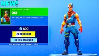 "NEW! Bob The Builder skin ""COLE"".! (NEW item shop) Fortnite Battle Royale"