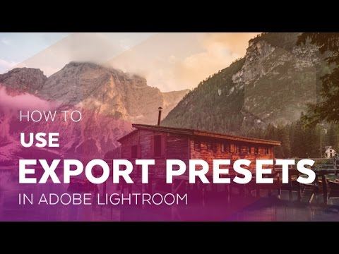 how to add export presets lightroom