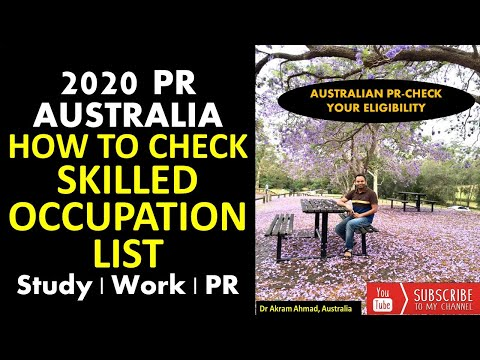 HOW TO CHECK SKILLED OCCUPATION LIST, 2020 | AUSTRALIAN PR-CHECK YOUR ELIGIBILITY