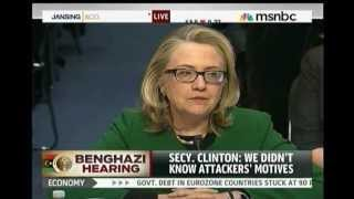 "Hillary Clinton, Benghazi ""What"
